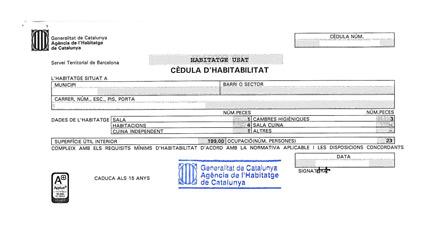 C dula de habitabilidad qu es y c mo obtenerla con casc antic bcn inmobiliaria barcelona - Ejemplo certificado energetico piso ...