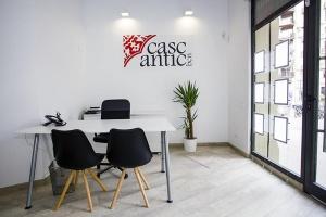 Interior de la nueva oficina