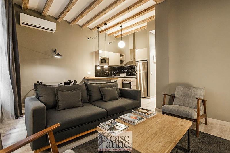 Precioso piso reformado de dos habitaciones en Raval